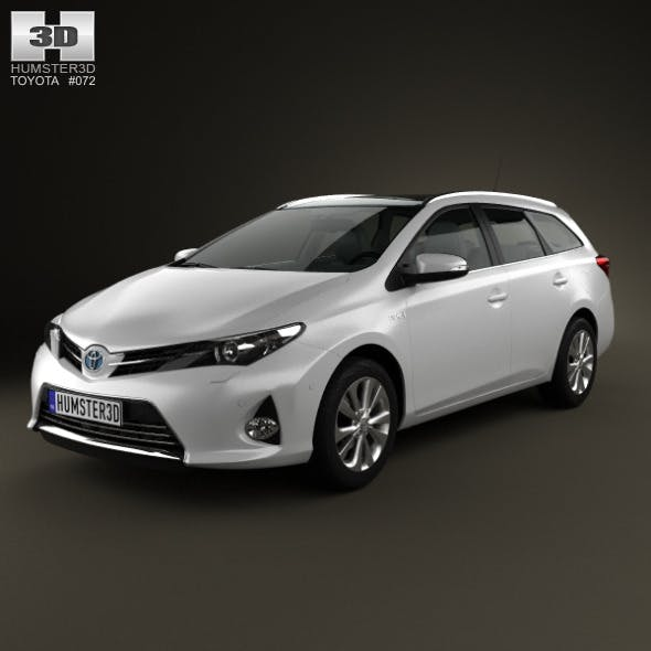 Toyota Auris Touring Hybrid 2013 - 3DOcean Item for Sale
