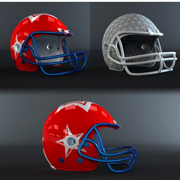 American Football Helmet - 3DOcean Item for Sale