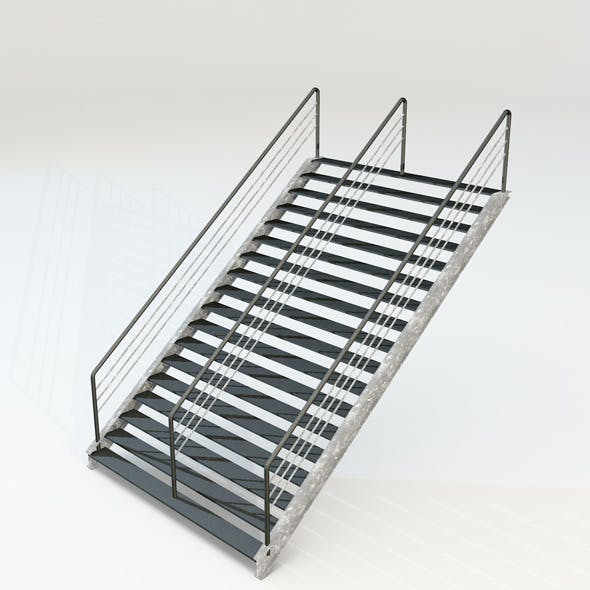 double stairs - 3DOcean Item for Sale
