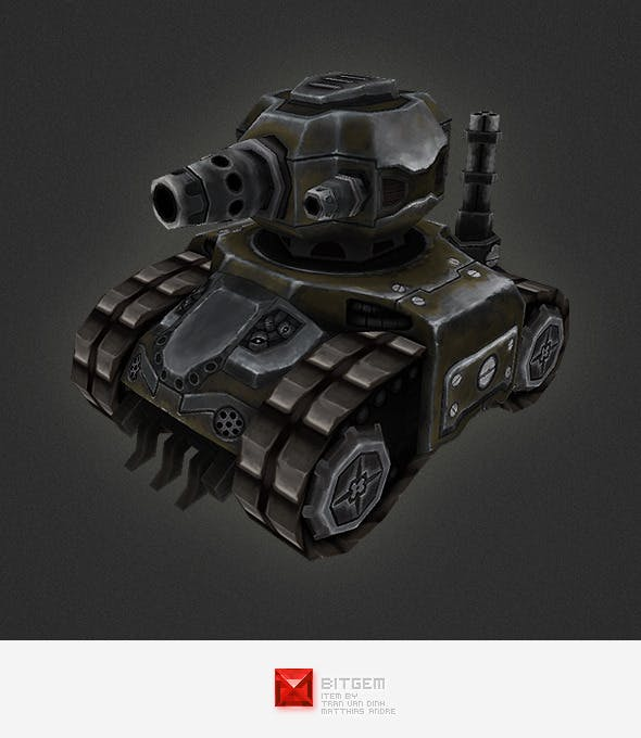 Low poly RTS Tank 01 - 3DOcean Item for Sale