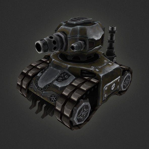 Low poly RTS Tank 01