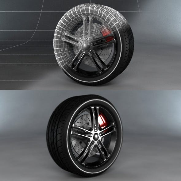 Sport Tyre - 3DOcean Item for Sale
