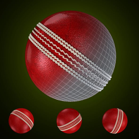 Cricket Leather Ball - 3DOcean Item for Sale