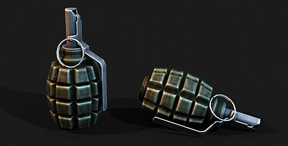 Low Poly F1 Grenade by A_Gruzdev | 3DOcean