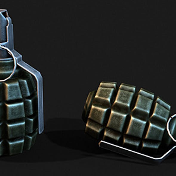 Low Poly F1 Grenade