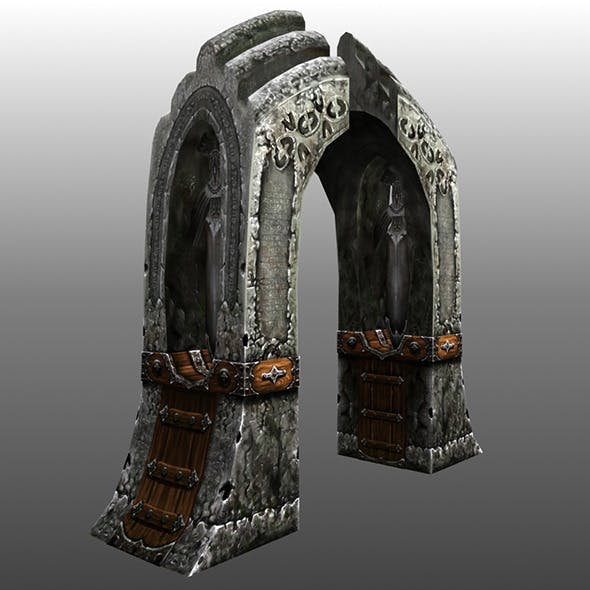 Lowpoly Gate 01