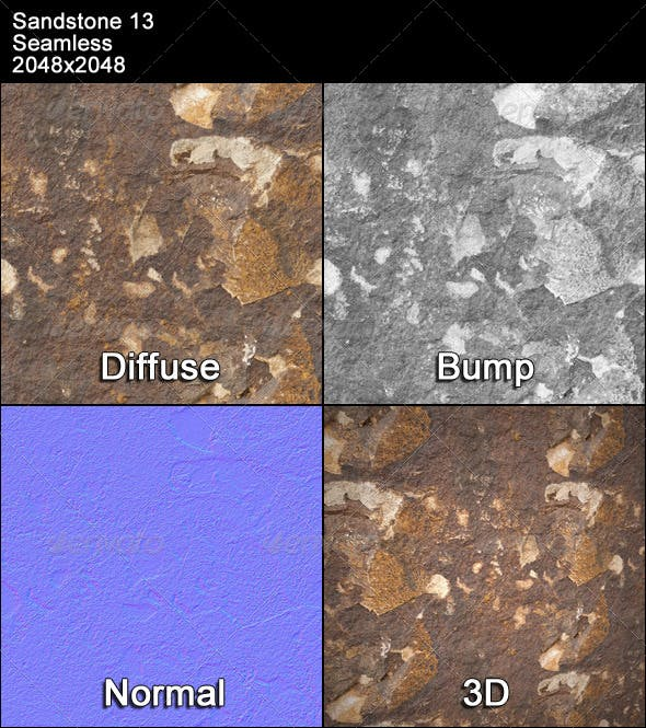 Sandstone Seamless Texture 13 - 3DOcean Item for Sale