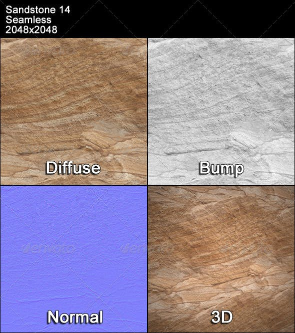 Sandstone Seamless Texture 14 - 3DOcean Item for Sale