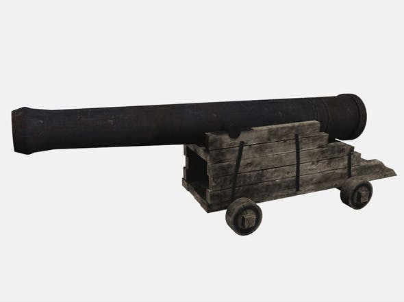 Old Cannon - 3DOcean Item for Sale