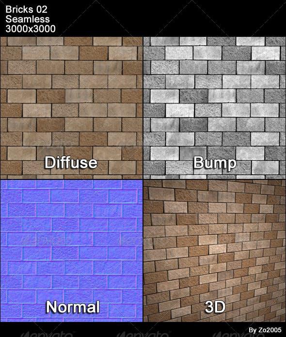 Bricks 02 Tileable - 3DOcean Item for Sale