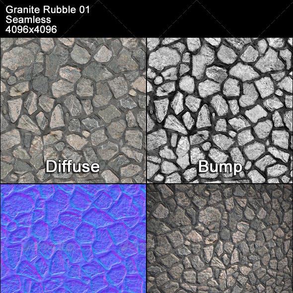 Granite Rubble Texture Tileable