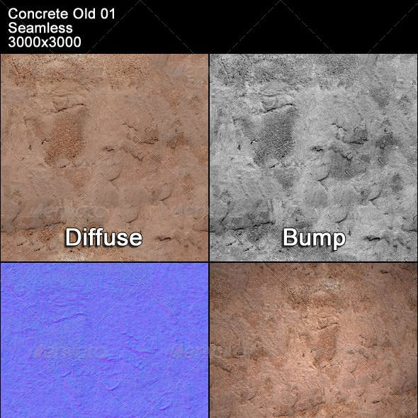 Concrete Old 01 Tileable