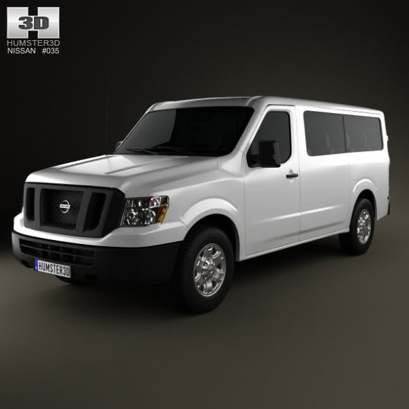 Nissan NV Passenger Van Standard Roof 2013 - 3DOcean Item for Sale