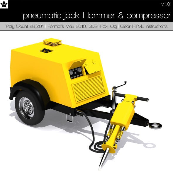 pneumatic jack Hammer and compressor