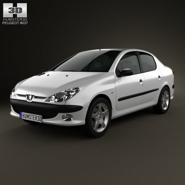 Peugeot 206 sedan 2010 - 3DOcean Item for Sale