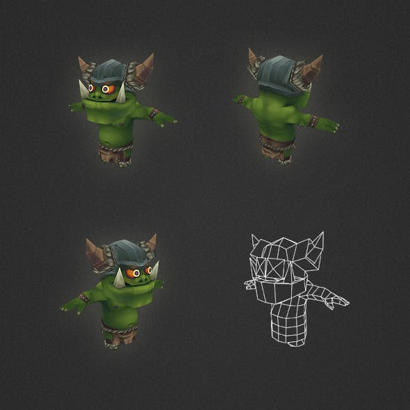 Low Poly Orc Worker