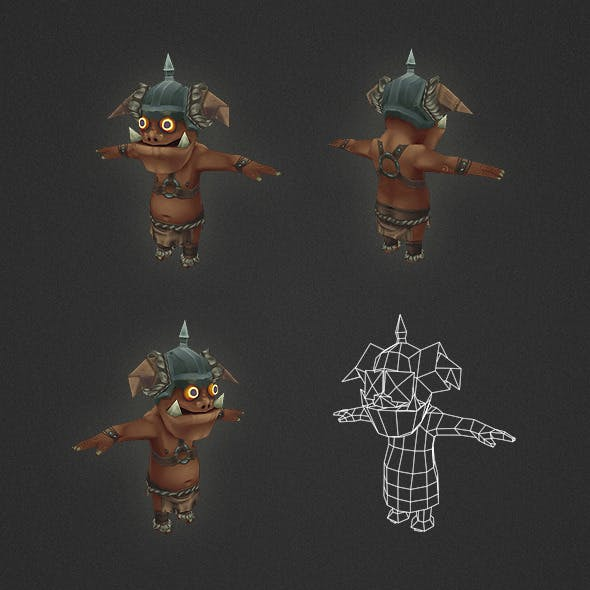 Low Poly Orc Archer
