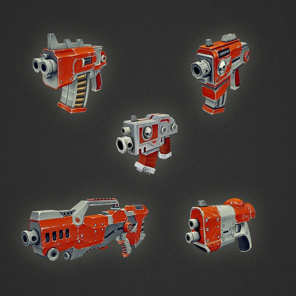 Low Poly Gun Set 01