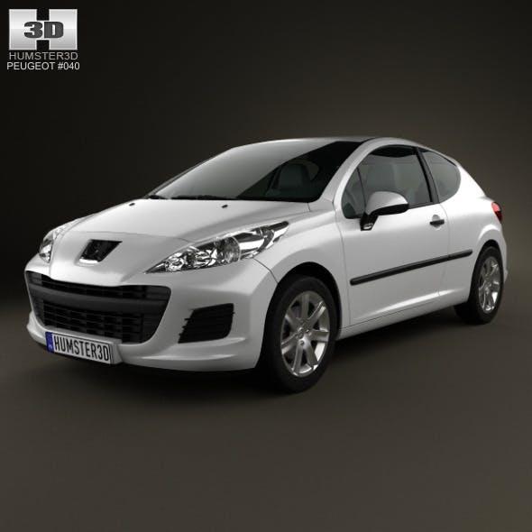 Peugeot 207 hatchback 3-door 2012 - 3DOcean Item for Sale