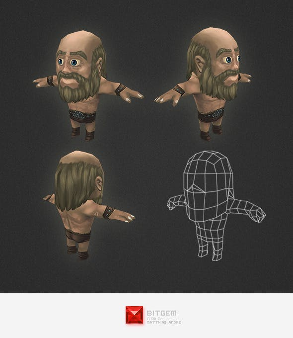 Low Poly Human Worker - 3DOcean Item for Sale