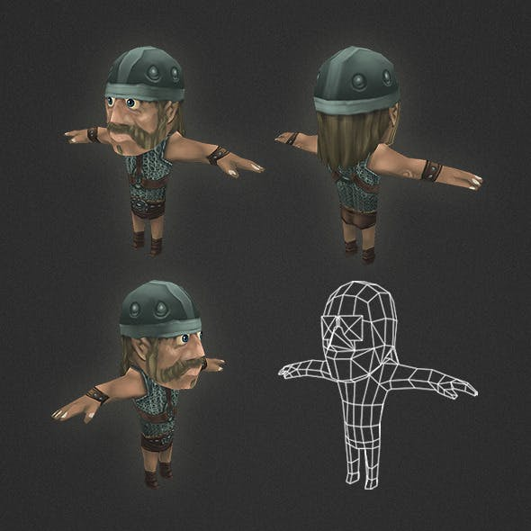 Low Poly Human Archer