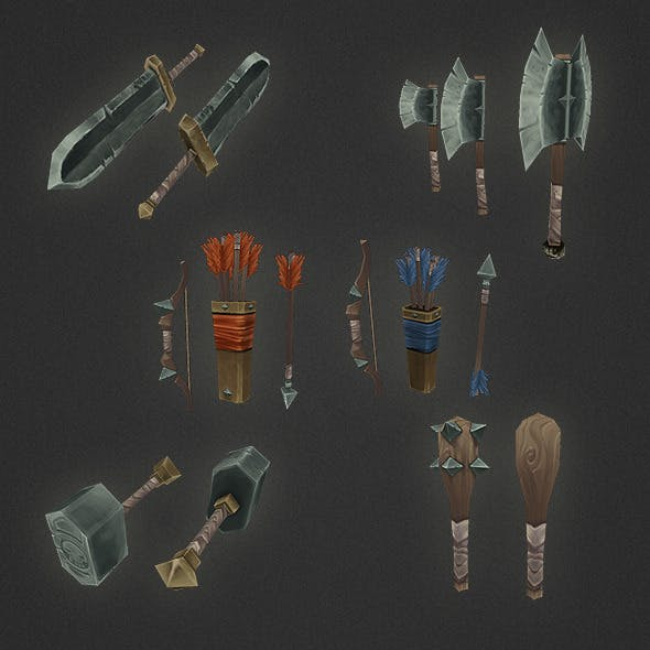 Low Poly Weapon Set 05