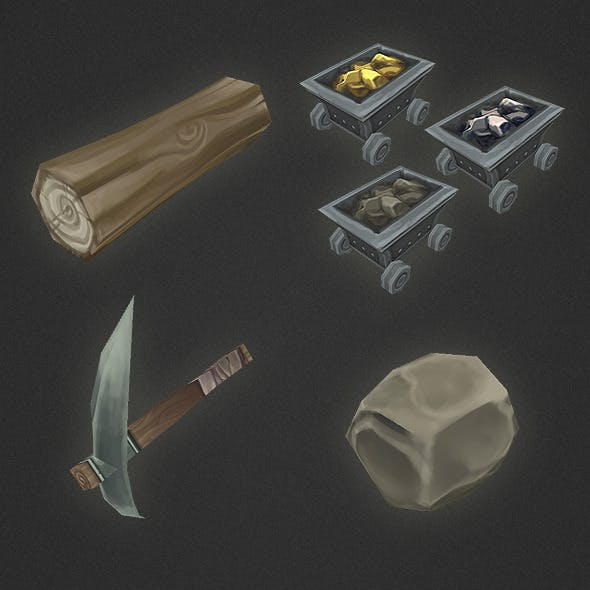 Low Poly RTS Misc Items