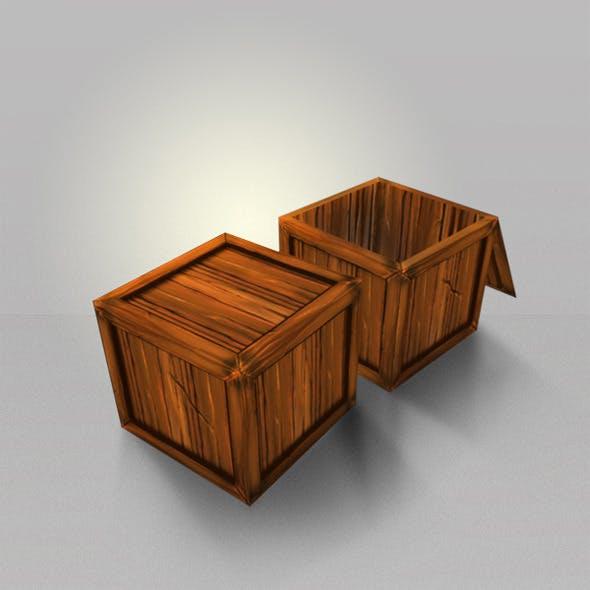 Wood Box Lowpoly