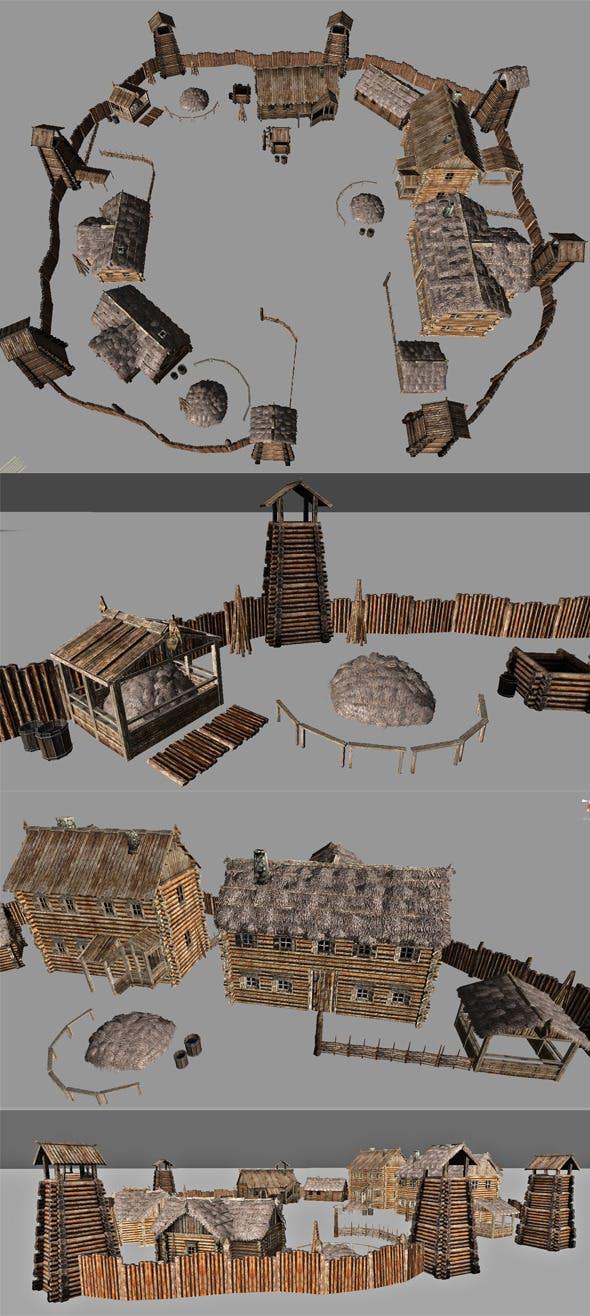 Village Pack - 3DOcean Item for Sale