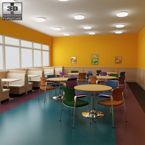 Dining room 04 Set - a fast food restaurant.