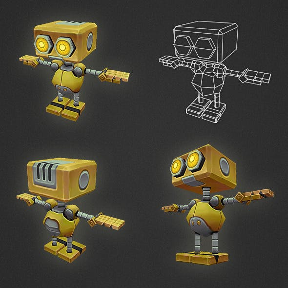 Low Poly Robot Character AL