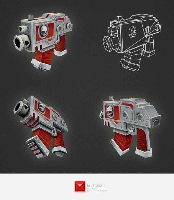 Low Poly Gun 01 - 3DOcean Item for Sale