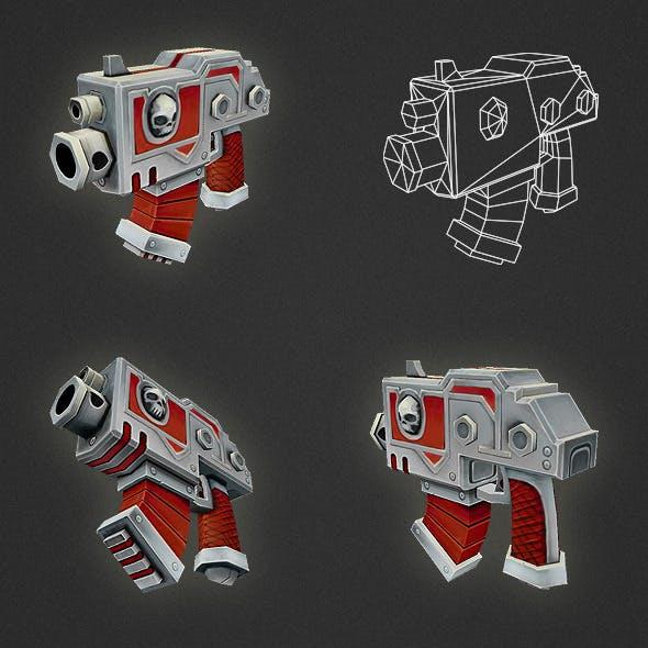 Low Poly Gun 01
