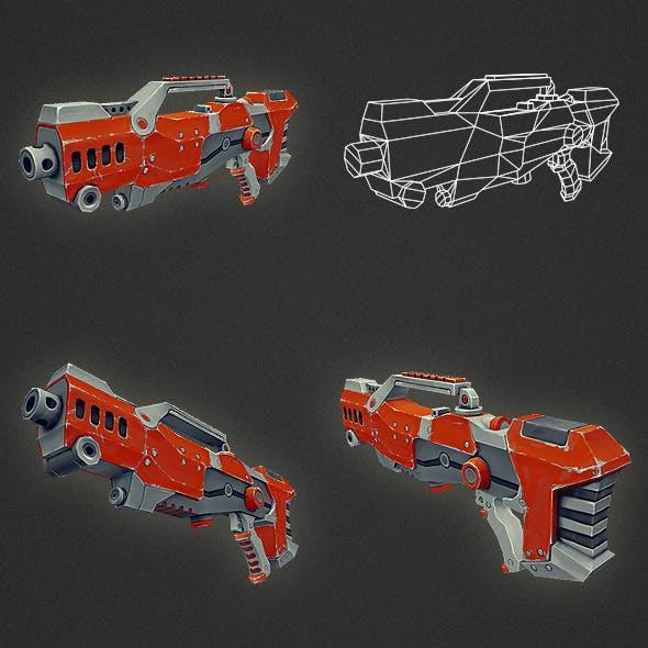 Low Poly Gun 04