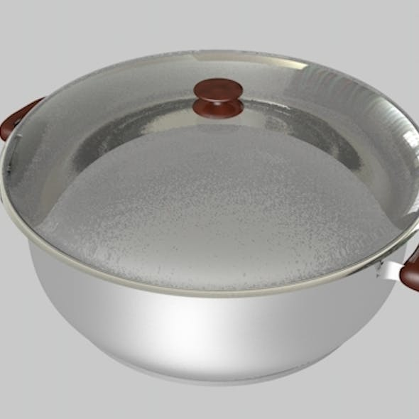 Saucepan Cooker Stewpot Animated and Render Ready