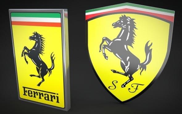 Ferrari Logos - 3DOcean Item for Sale