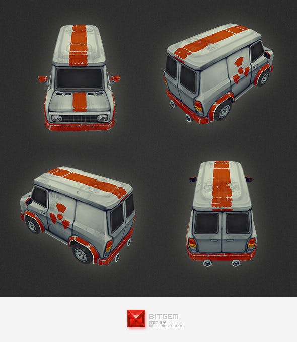 Low Poly Car 02 - 3DOcean Item for Sale