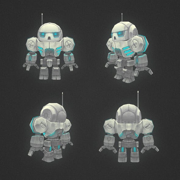 Low Poly Mini Mech
