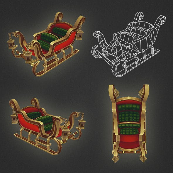 Low Poly Sleigh