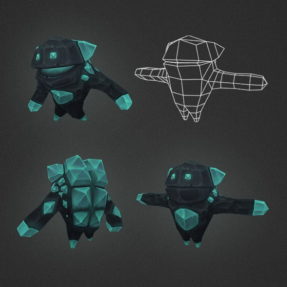 Low Poly Crystal Elemental
