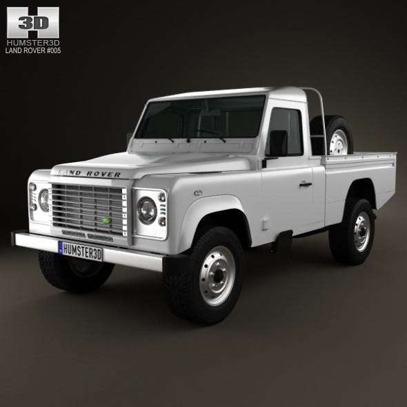 Land-Rover Defender 110 High Capacity PickUp 2011 - 3DOcean Item for Sale