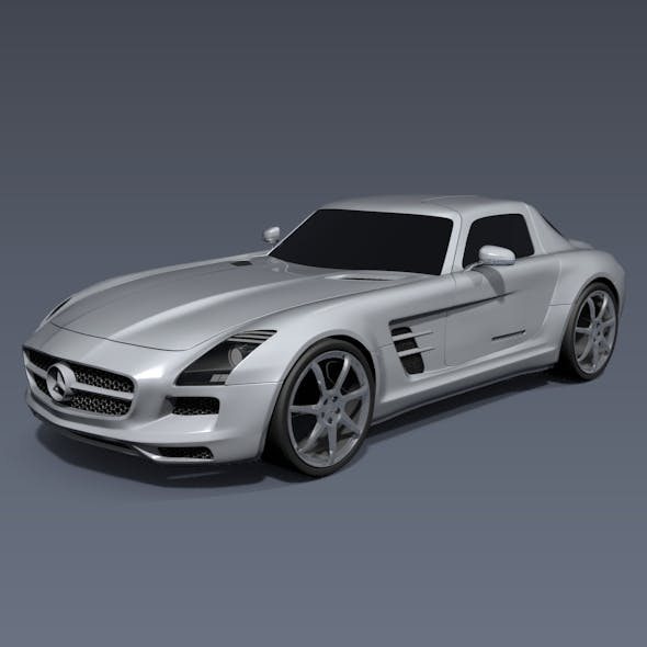 Mercedes-Benz SLS 2011 amg sports car - 3DOcean Item for Sale