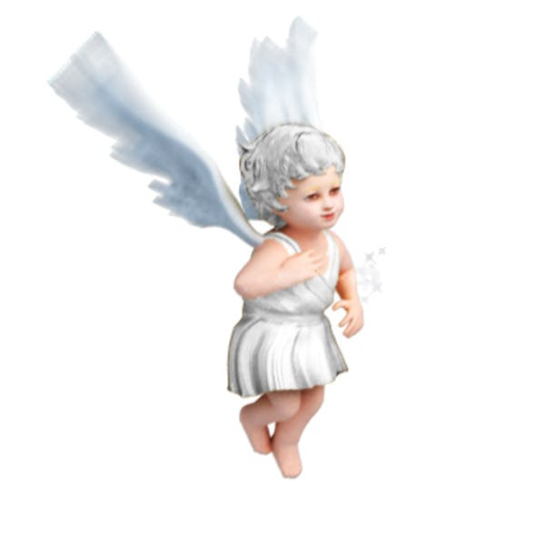 Animated Angel With Lighting And Texture