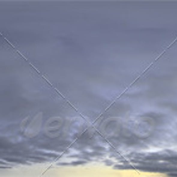 Skydome HDRI - Dusk Clouds