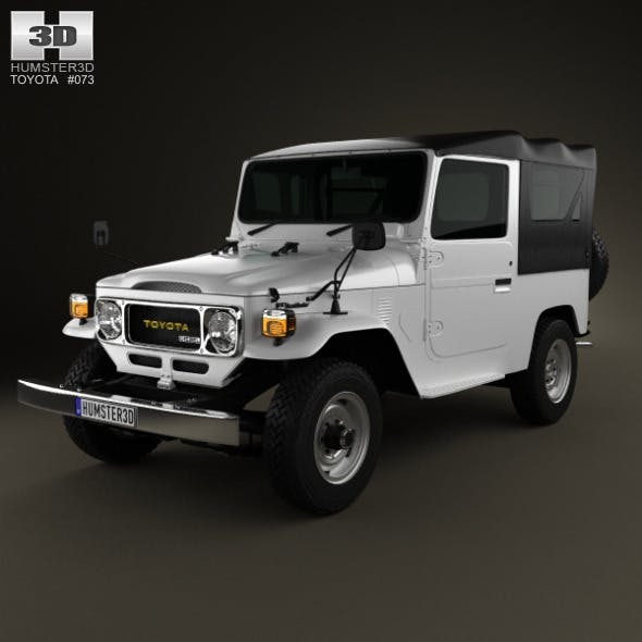 Toyota Land Cruiser (J40) Canvas Top 1979 - 3DOcean Item for Sale