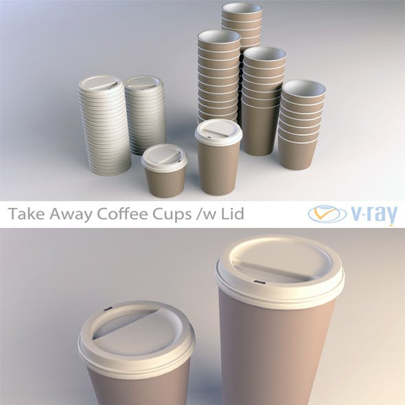 Coffee Cup Take Away (Vray) - 3DOcean Item for Sale