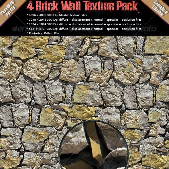 4 Brick Wall Texture Pack