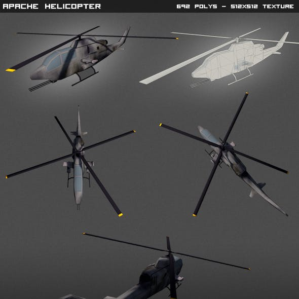Apache Helicopter lowpoly