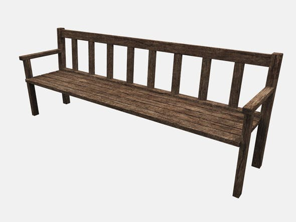 Wooden Bench - 3DOcean Item for Sale