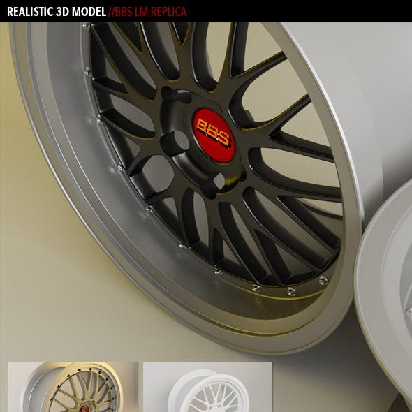 Realistic BBS LM Wheel Model